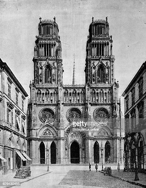 Early autotype cathedral of orleans france 1880
