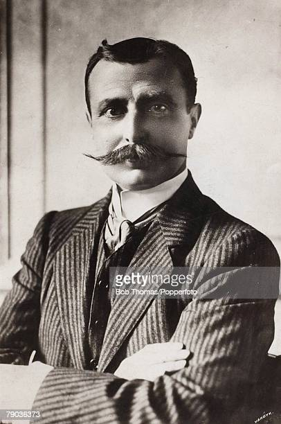 Early Aviation Circa 1910's A portrait of M Louis Bleriot who made a name for himself and his monoplane on July 25th 1909 being the first man to fly...