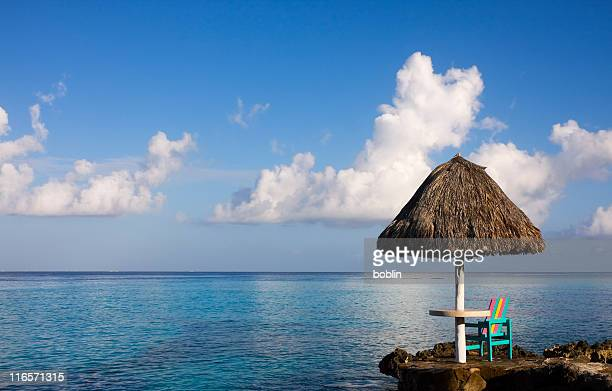 Early Caribbean morning with ocean view