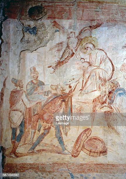 the Adoration of the Magi Fresco 7th9th century Santa Maria Foris Portas Castelseprio Italy
