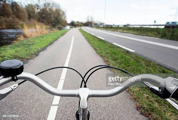 Early morning bike ride near Amsterdam