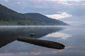 first light on Basenthwaite Lake in the Englsh Lake District