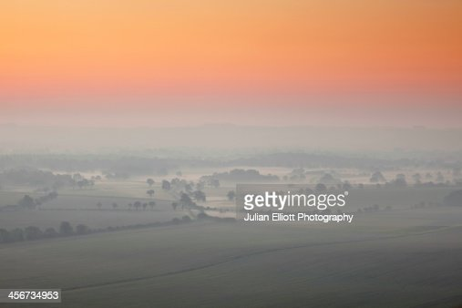 Early morning mist on the Vale of Pewsey