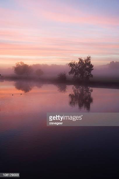 Early Morning Mist. River Thames