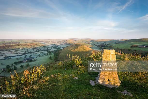 Early morning on High Wheeldon, Derbyshire