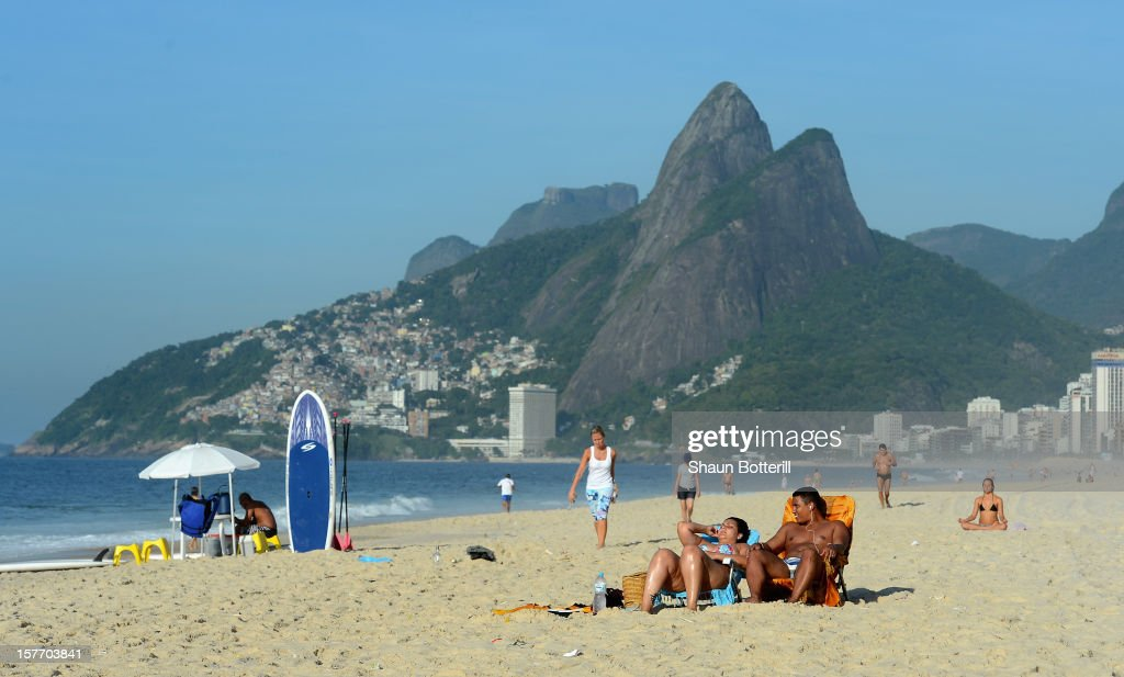 Early morning on Ipanema on December 5, 2012 in Rio de Janeiro, Brazil.