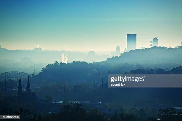 Early Morning Pittsburgh Pennsylvania Hills And City
