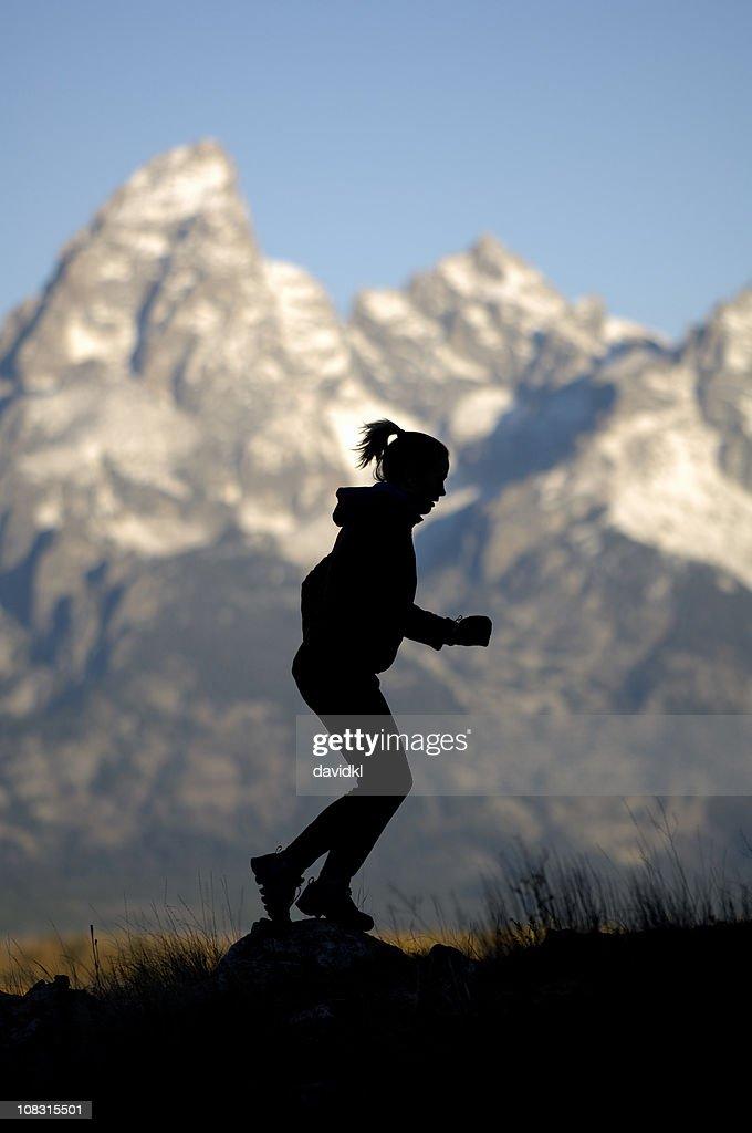 Early morning run in the Tetons