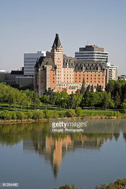 Early Morning Saskatoon Skyline With Bessborough Hotel