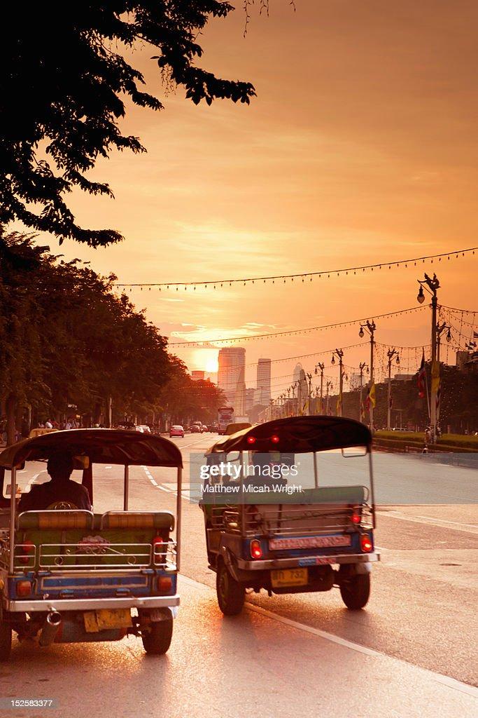 Early morning sunrise in Bangkok. : Stock Photo