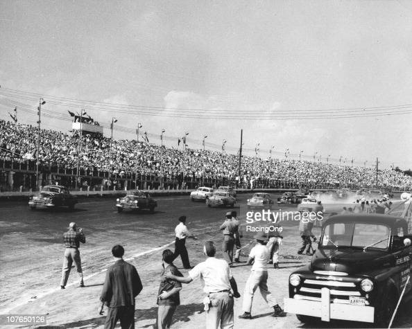 LANGHORNE PA Early NASCAR Cup events at Langhorne Speedway drew standingroomonly crowds like this one numbering over 25000