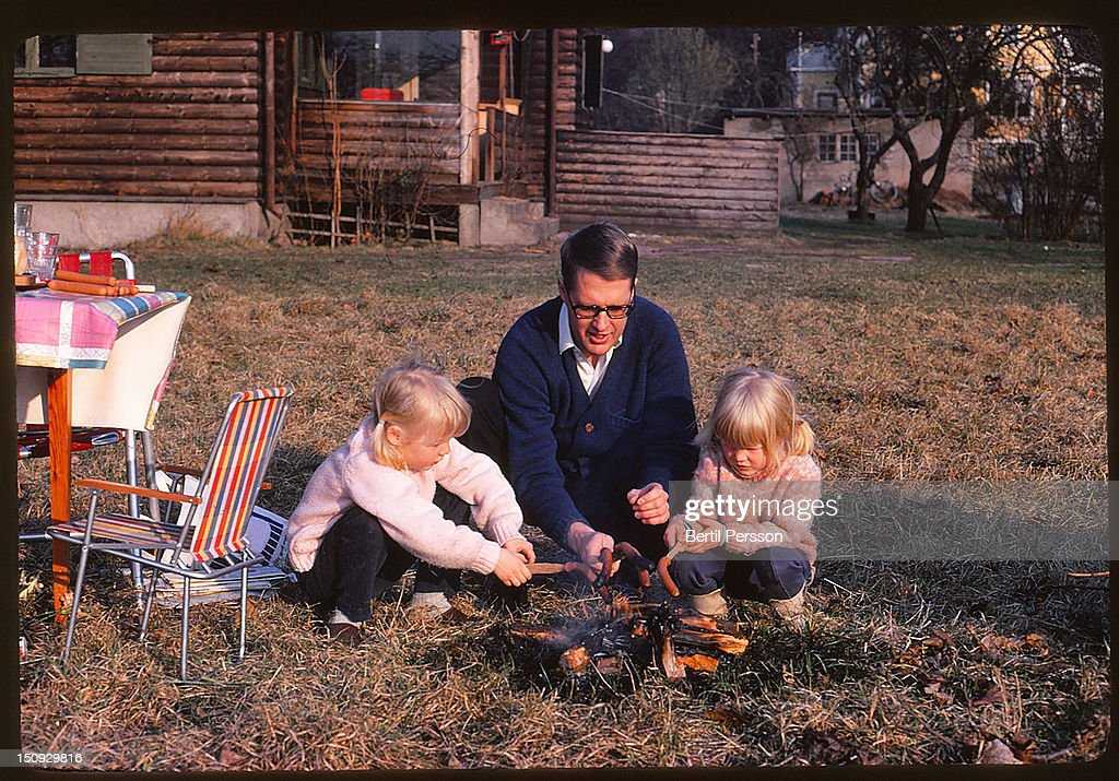 Early Spring Barbecue : Stock Photo