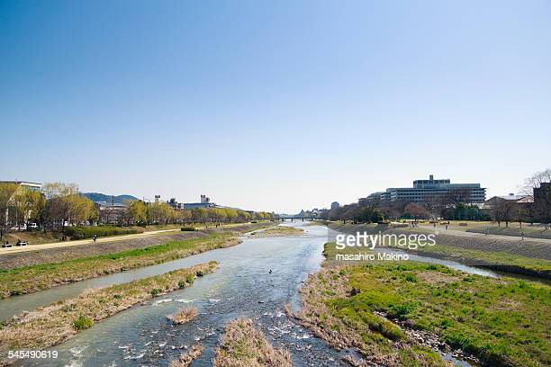 Early Spring View of Kamo River