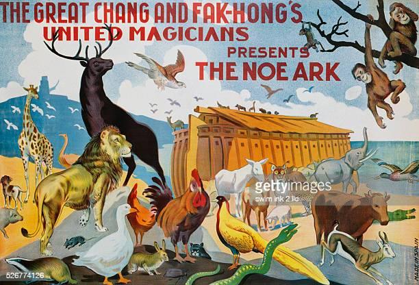 Early TwentiethCentury Spanish Poster for The Noe Ark