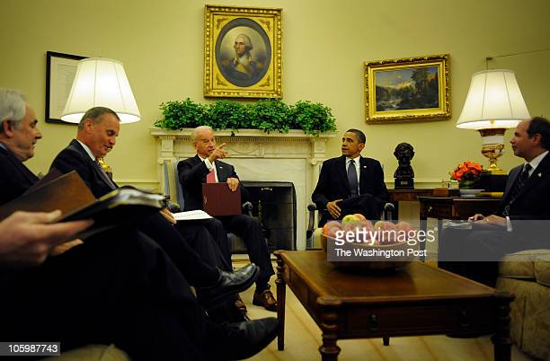 Early Wednesday morning in the Oval Office President Barack Obama has his daily national security briefing at the White House Wednesday June 16 2010...