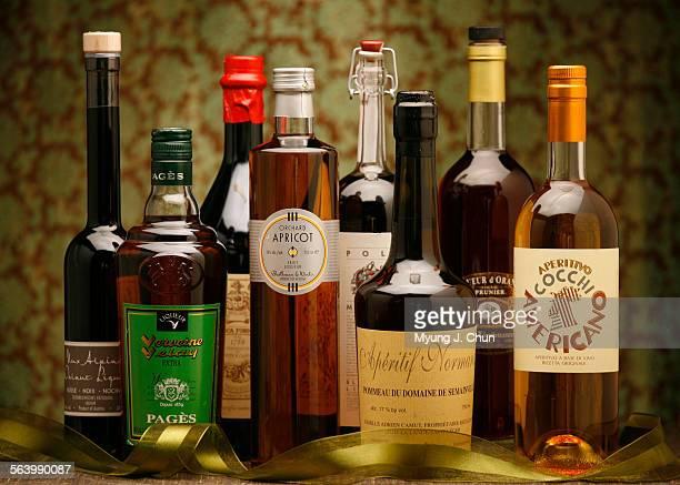 Nux Alpina Walnut liqueur Verveine du Velay Antica Formula Vermouth Orchard Apricot Poli Mirtillo Apéritif Normand Liqueur d'Orange Cognac and...
