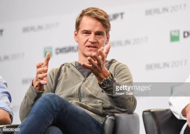 Earlybird Venture Capital CoFounder Christian Nagel talks at TechCrunch Disrupt Berlin 2017 at Arena Berlin on December 5 2017 in Berlin Germany