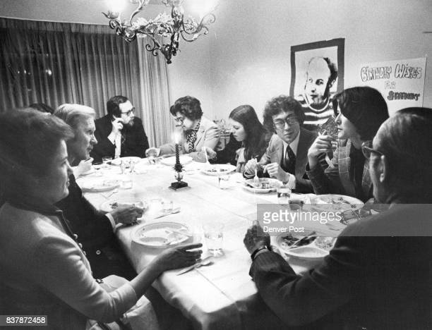 EarlyJanuary Advance Birthday Party Held For Anatoly Shcharansky Attending from left were Mrs Mary Ann Tooley Denver District Attorney Dale Tooley...