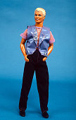 Earring Magic Ken introduced by Mattel as a companion to its Earring Magic Barbie figure is photographed August 5 1993 In New York City This 'hipper'...