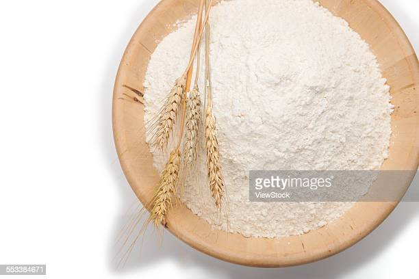 Ears of wheat and flour
