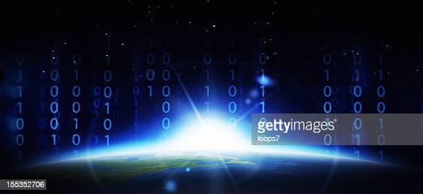 Earth and binary code