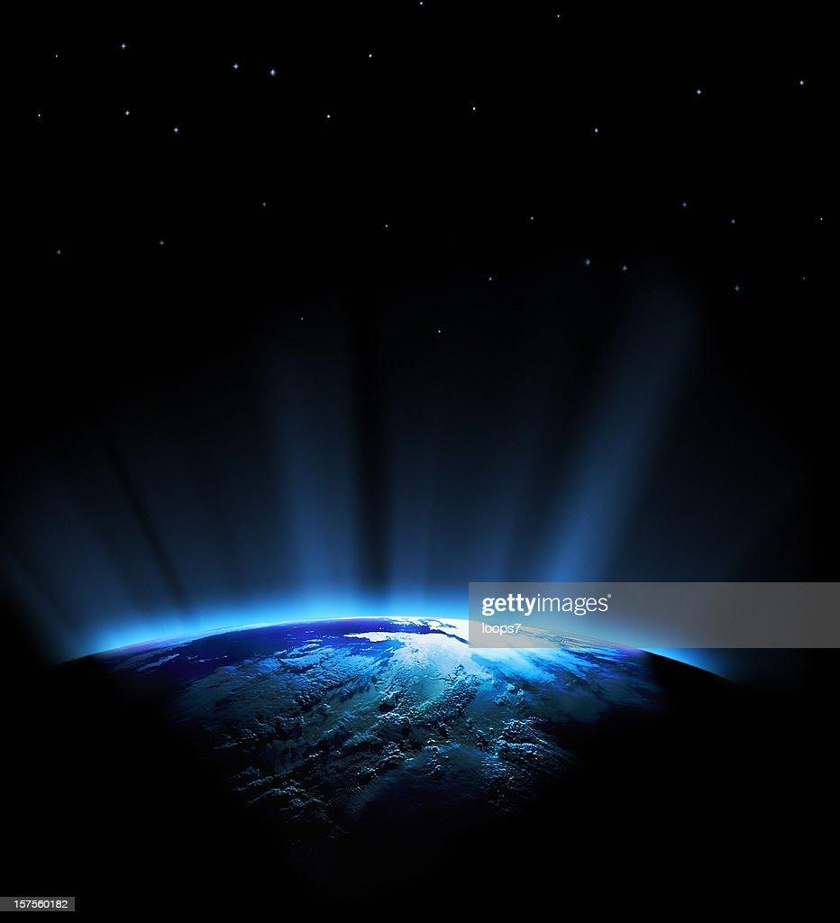 Planète Terre et bleu soleil : Photo