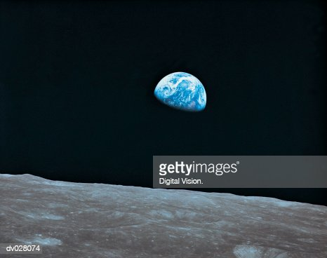lunar landscape looking at earth - photo #5