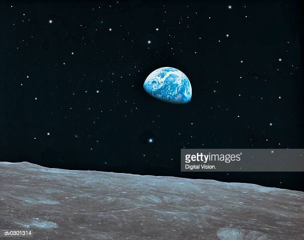 Earth and Lunar surface