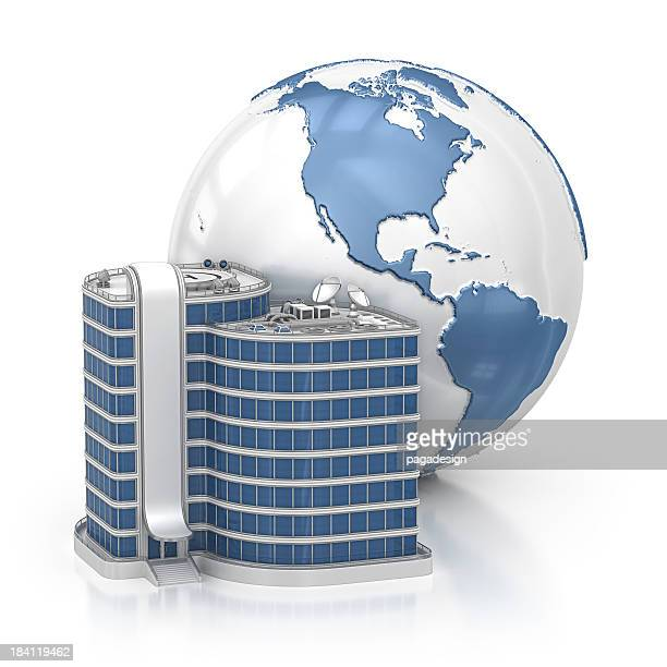 earth and office building