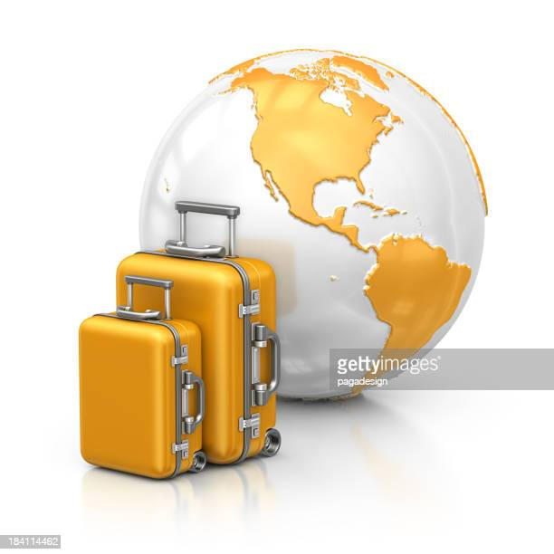 earth and suitcases