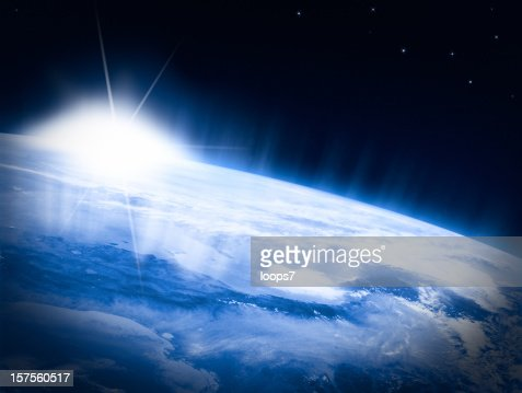 Earth and Sun : Stock Photo
