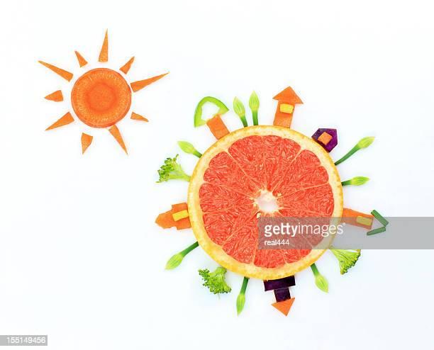 Terre et le soleil