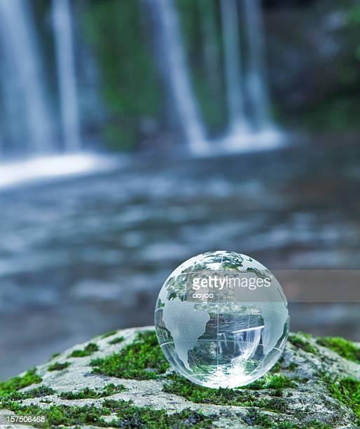 Earth at Waterfall