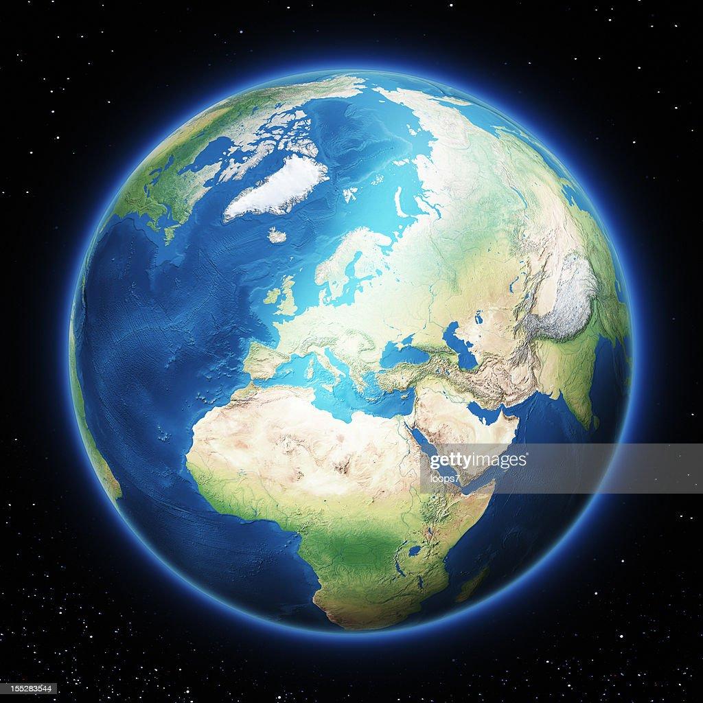 Terra Europa : Foto stock