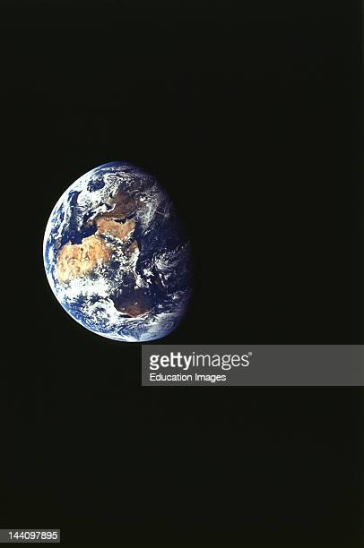 Earth From Apollo 11 Showing Africa Europe And Asia