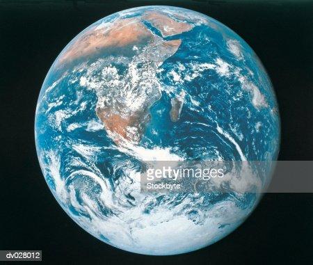 Earth from Apollo 17  Stock Photo