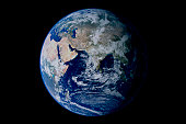 Earth from space showing eastern hemisphere.