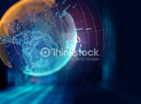 Earth futuristic technology abstract background