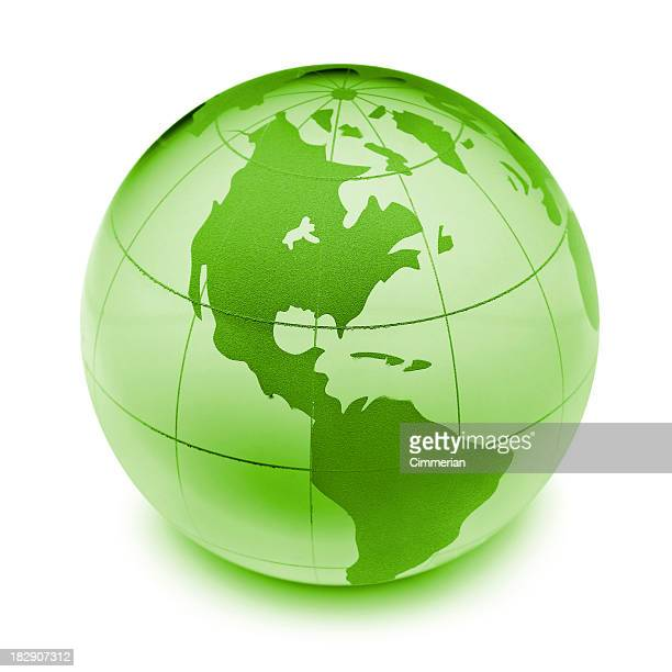 Earth globe (clipping path