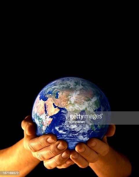 Terra em minha mão-East vista