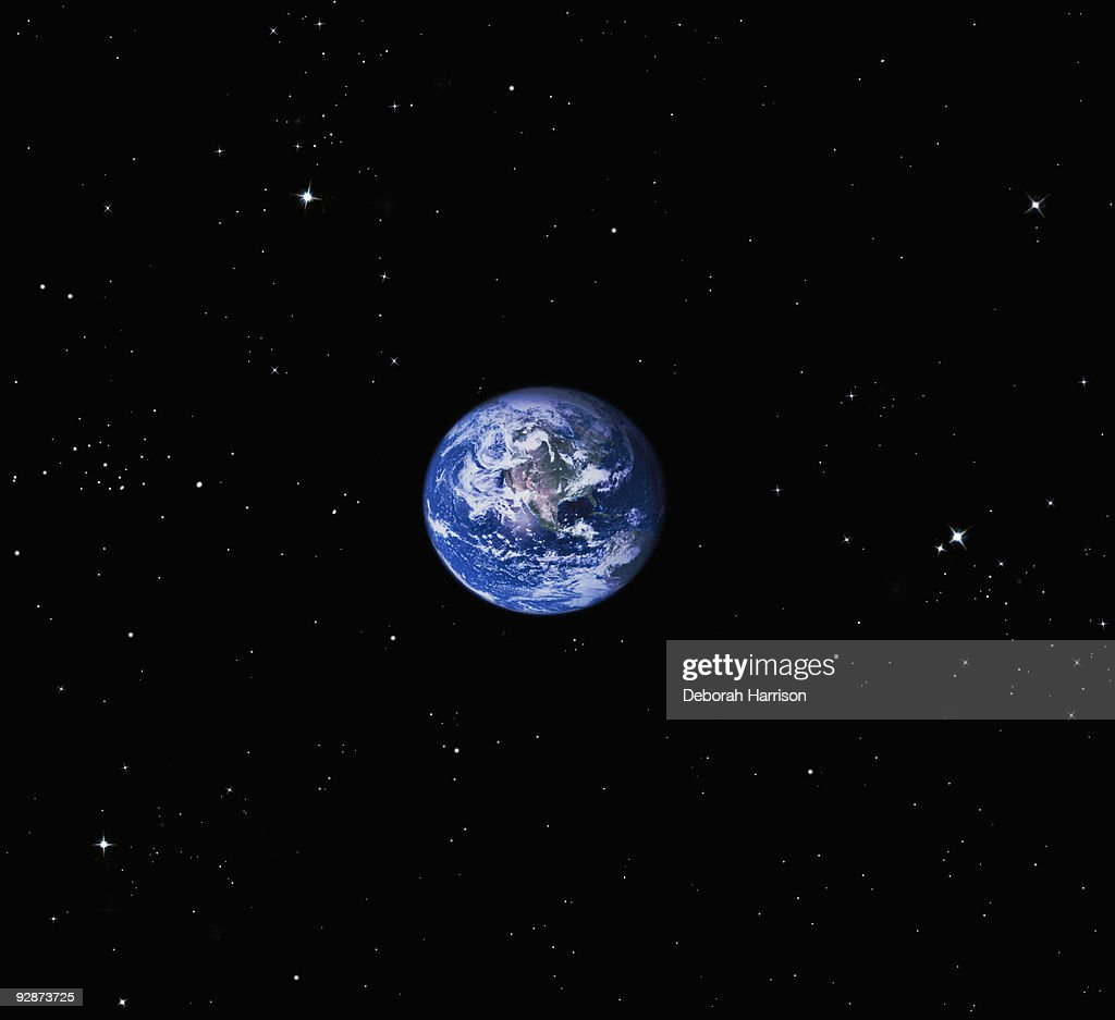 Earth in Space : Stock Photo