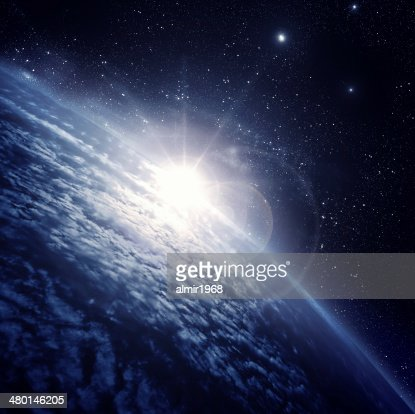 earth in the space : Stock Photo
