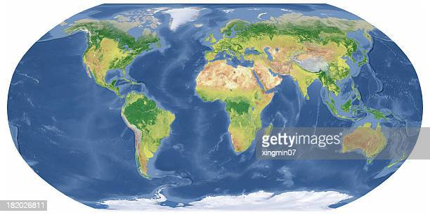 Earth Map in Robinson Projection