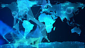 World Map, Technology, Digital Display, Data, Planet - Space