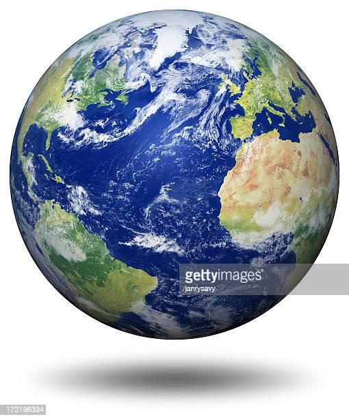 Erde Modell: Blick auf den Atlantik