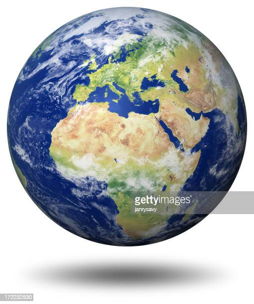 Erde Modell: Europa anzeigen