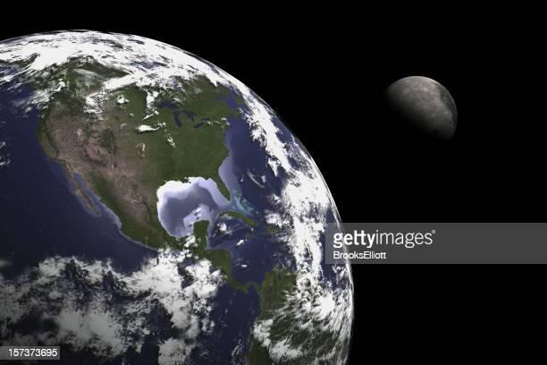 Terra Lua de Composição de Imagem