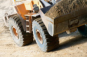 Earth Mover Carrying Dirt