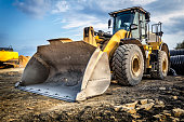 Earth mover in a new highway construction S3, Poland