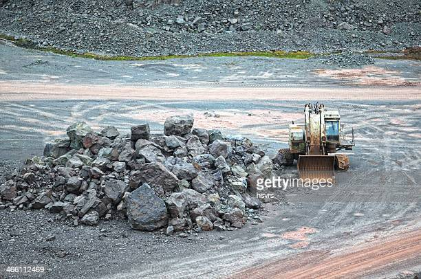 earth mover in a surface mine quarry